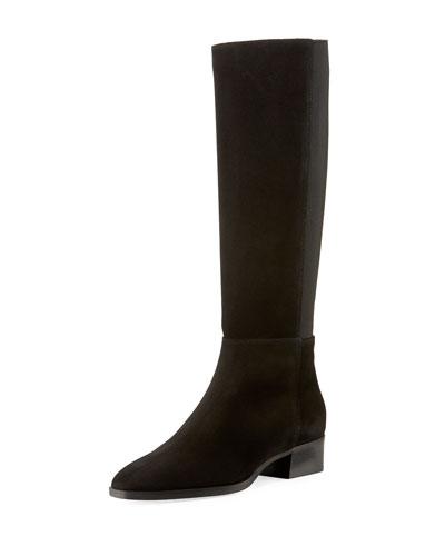 Finola Flat Suede Knee Boots