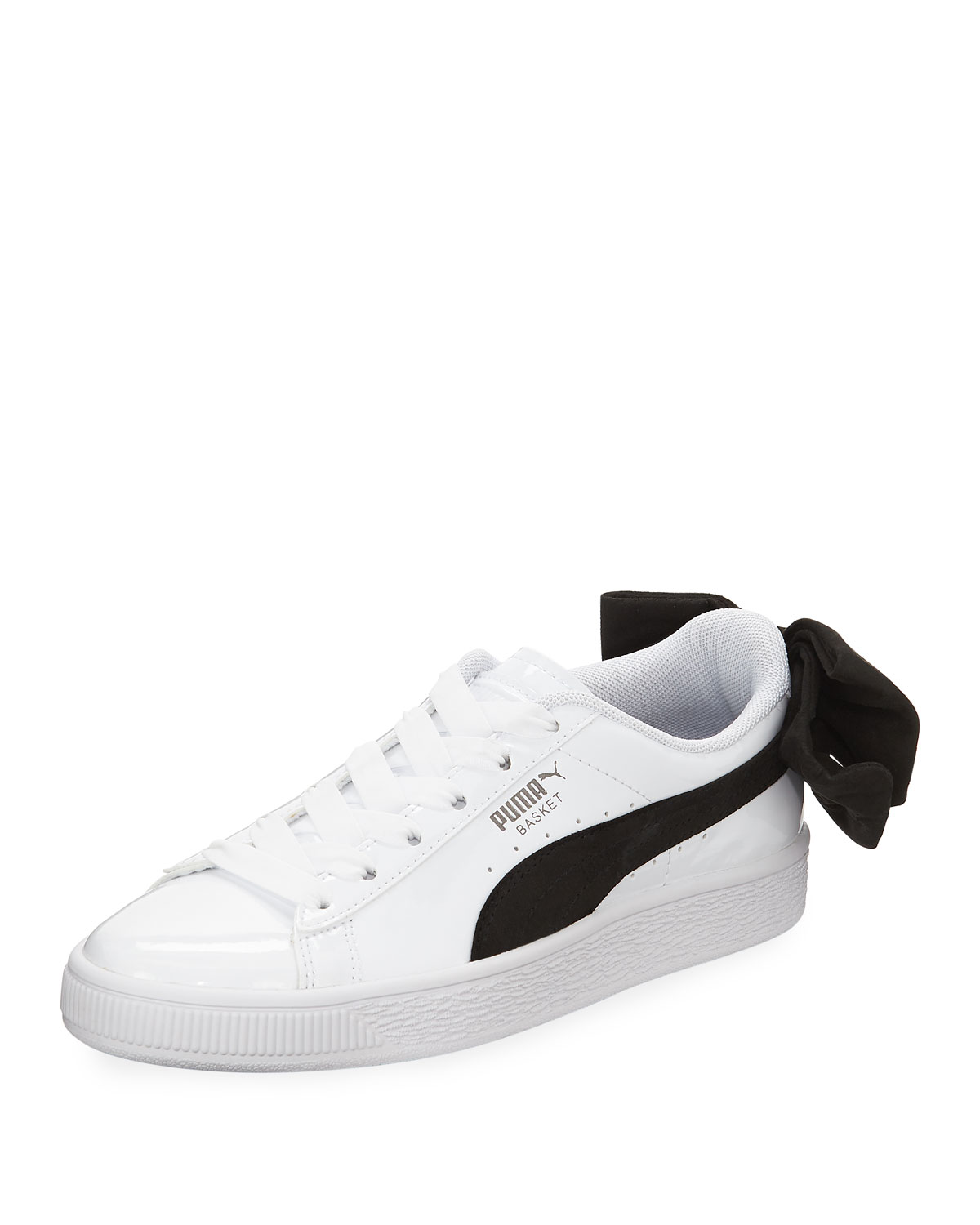 promo code 41ce4 b6013 Puma Basket Bow Two-Tone Leather Sneakers
