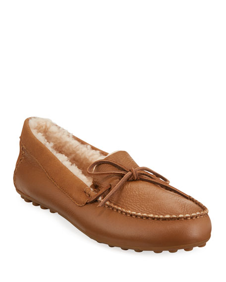 Ugg Deluxe Loafer Slippers With Fur Lining Neiman Marcus