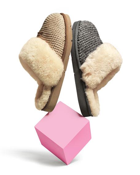 UGG Cozy Knit Slippers with Sheepskin