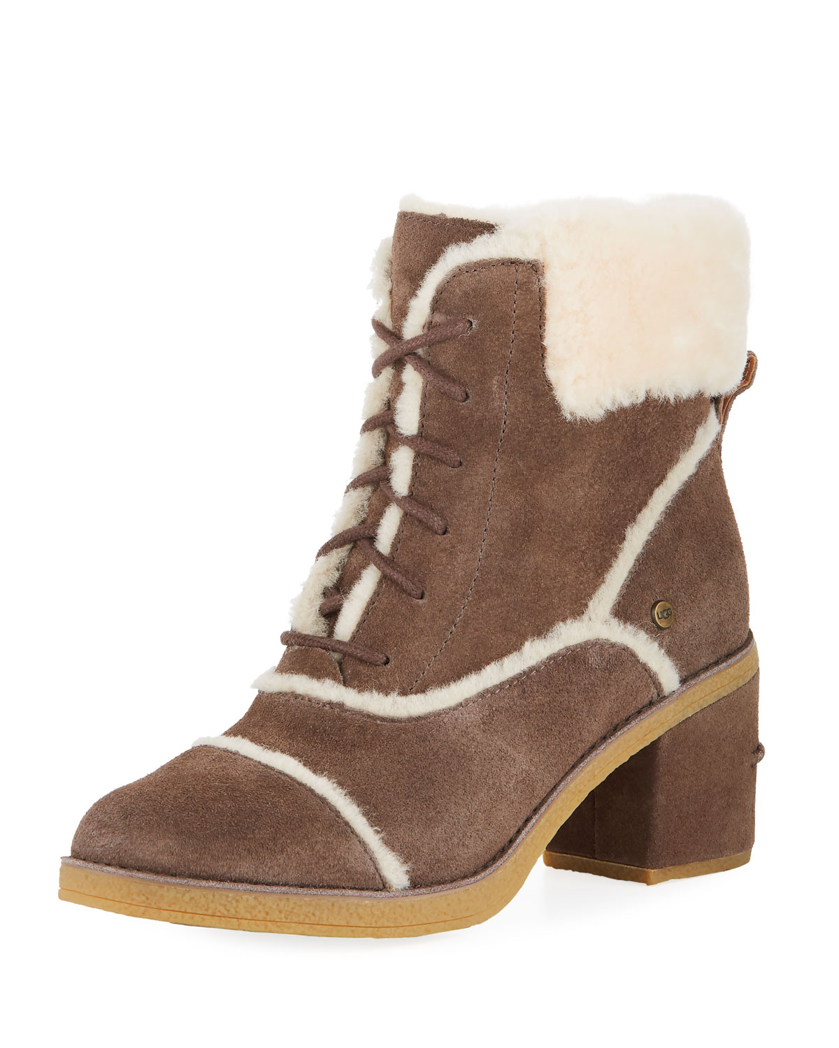 b8ce1910de6 Esterly Lace-Up Shearling Booties