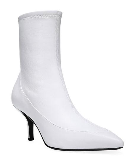 Diane von Furstenberg Morgan Leather Pointed Booties