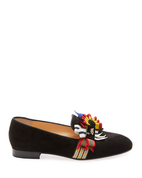 Christian Louboutin Ascot Girl Red Sole Ballet Flats
