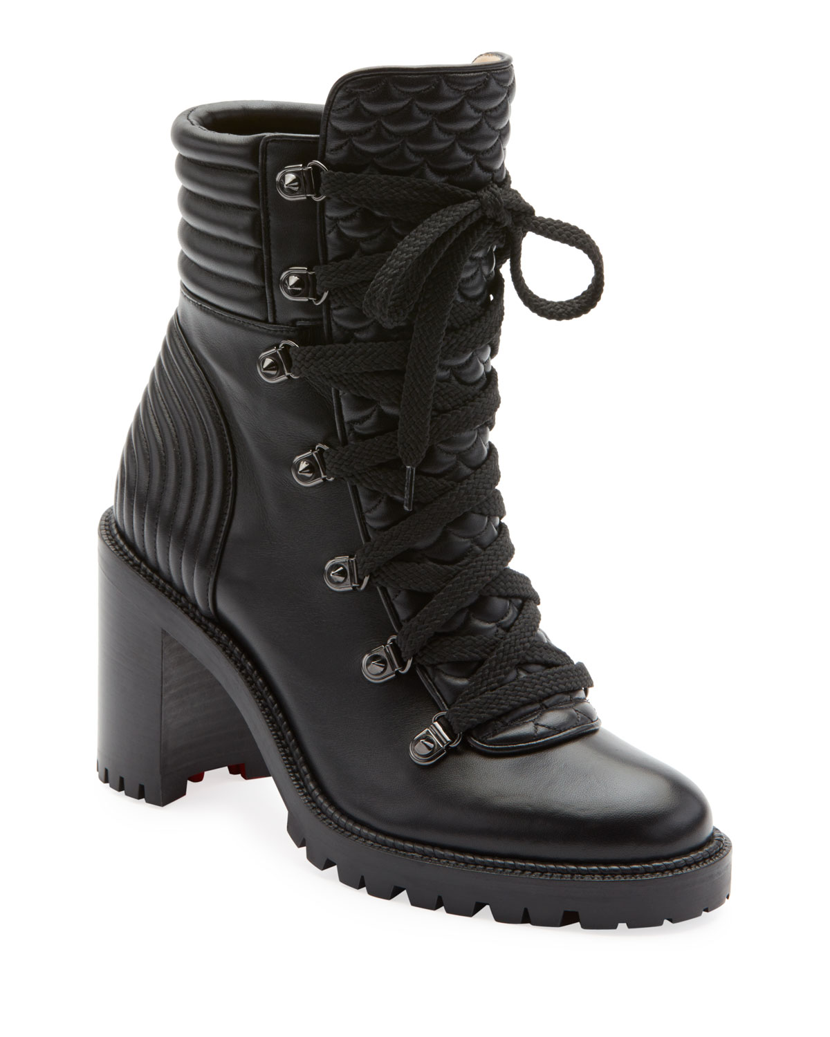 pas cher pour réduction e6cca 435f3 Mad Lace-Up Leather Block-Heel Hiker Boots