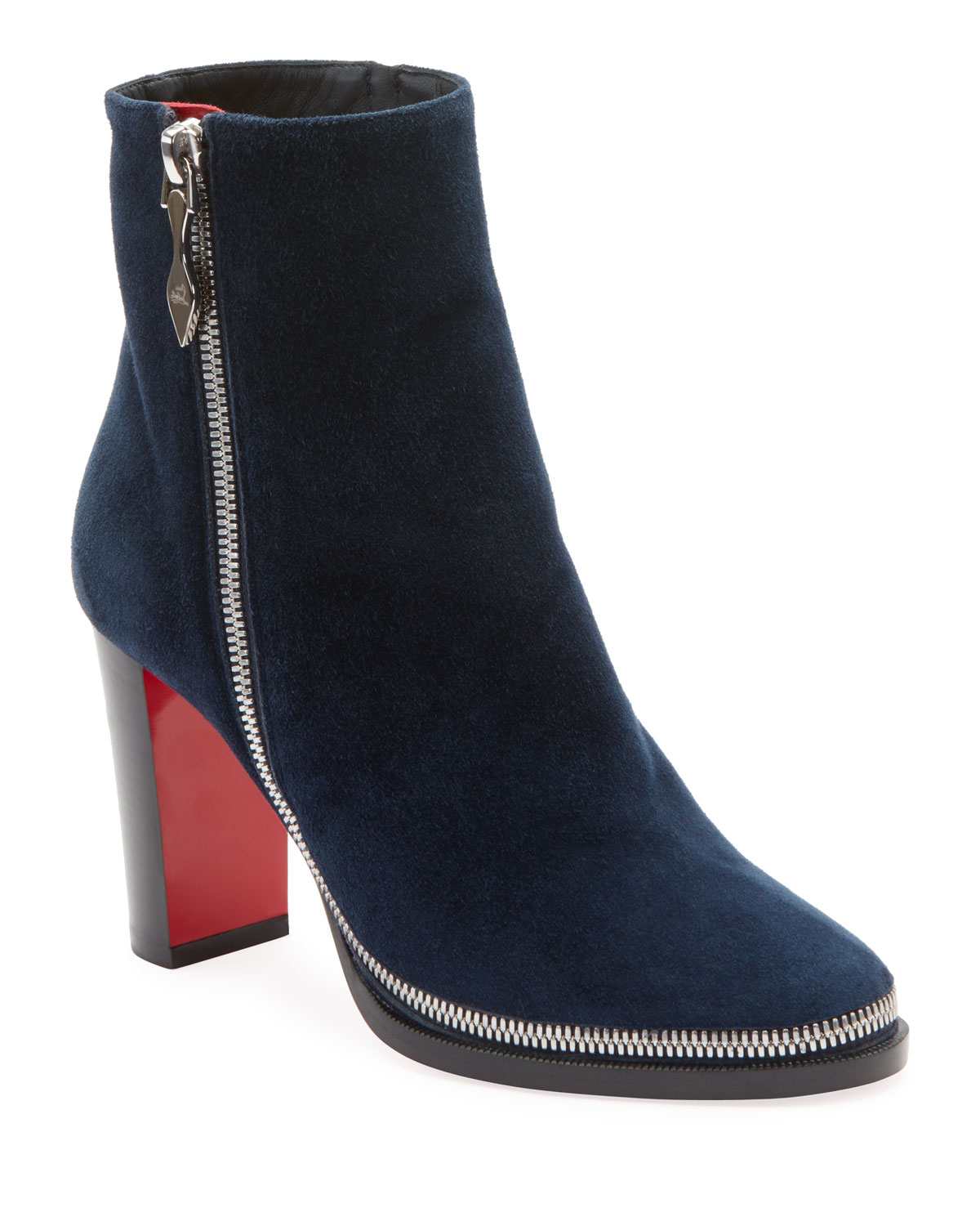 429af7ad3f5 Christian Louboutin Telezip Suede Red Sole Booties
