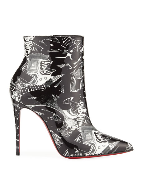 Image 2 of 3: So Kate 100 Patent Nicograf Red Sole Booties