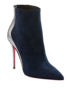 b3272ca5bbaa2 Christian Louboutin Delicotte Suede Red Sole Booties