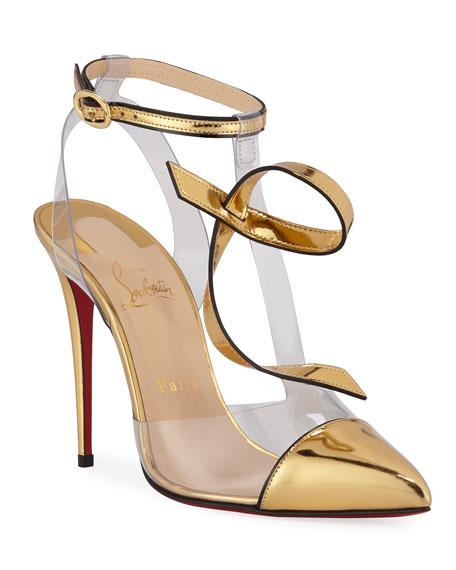 Christian Louboutin Alta Firma See-Through Vinyl Red Sole