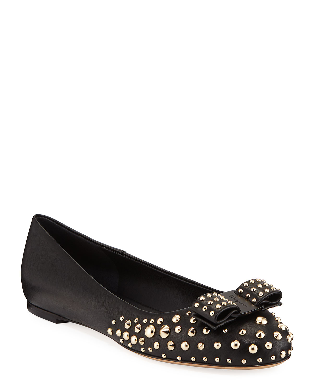 e1e4bb46 Varina Roc3 Studded Leather Ballet Flats