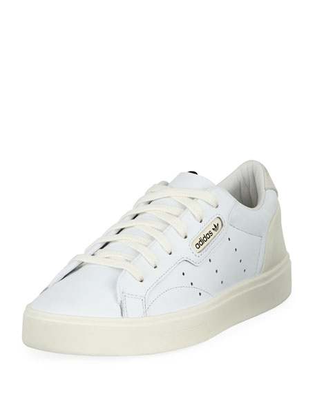 Adidas Sleek Leather Low-Top Sneakers