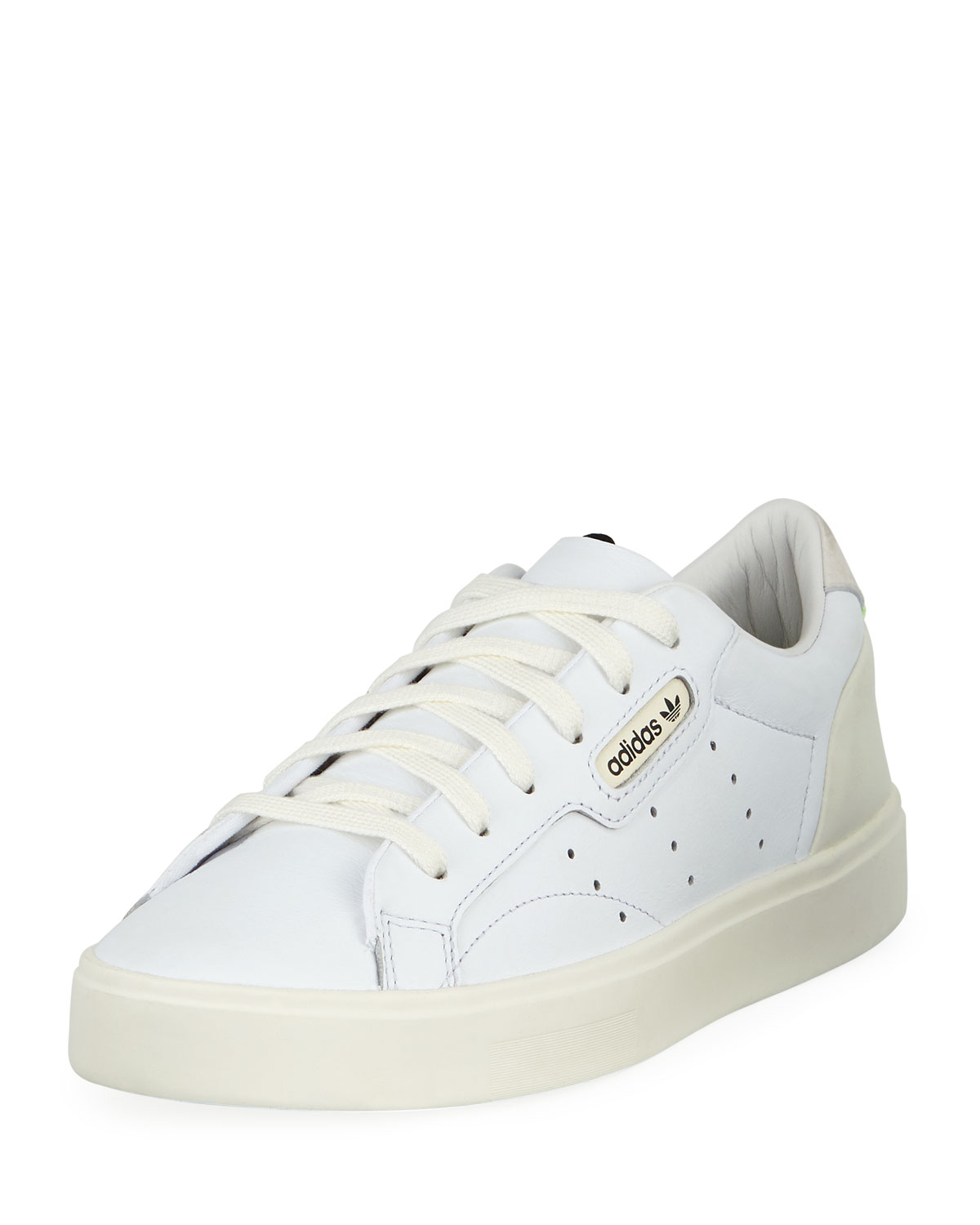 free shipping f118b c5983 Adidas Sleek Leather Low-Top Sneakers