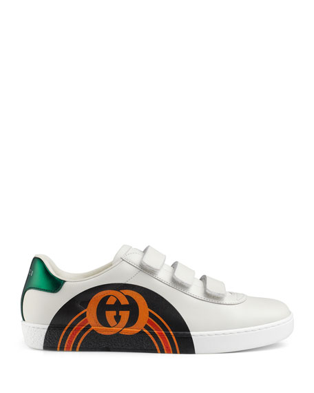 Gucci Printed Leather Grip Sneakers
