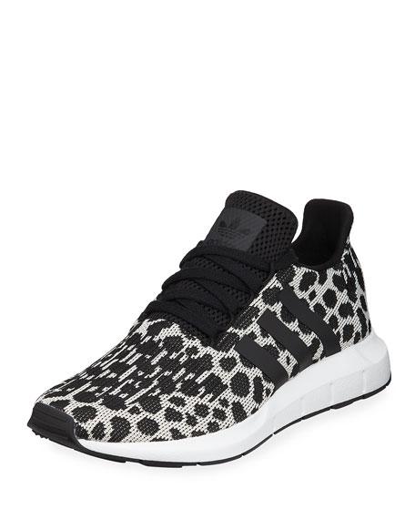 Adidas Swift Run Cheetah-Print Trainer Sneakers
