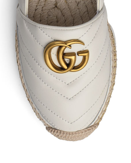Gucci GG Ornament Leather Espadrilles
