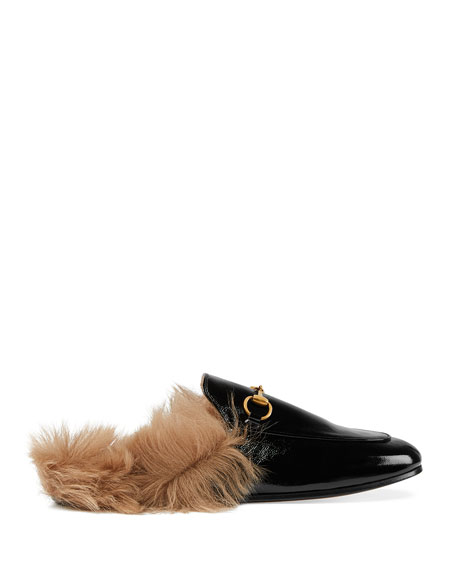 Gucci Princetown Patent Leather Mules