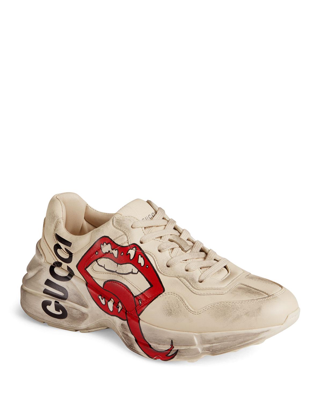 Gucci Rhyton Open-Lip Sneakers | Neiman