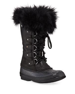 c17118ee3fdb7 Sorel Joan of Arctic Lux Waterproof Cold-Weather Glitter Boot with Fur