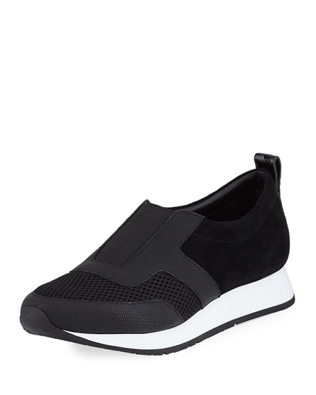 Rie Mixed Leather Sneakers