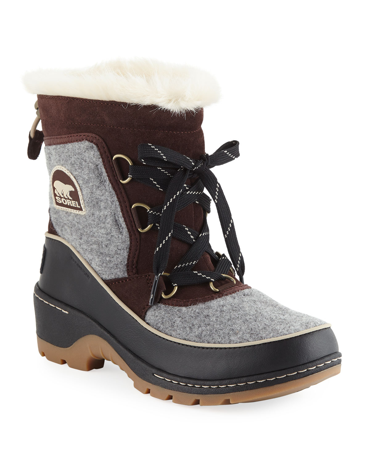 29a32cf398 Sorel Tivoli III Waterproof Lace-Up Winter Boots with Faux Fur ...