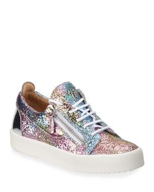 5d29fd81c56 Giuseppe Zanotti Glitter Low-Top Sneakers
