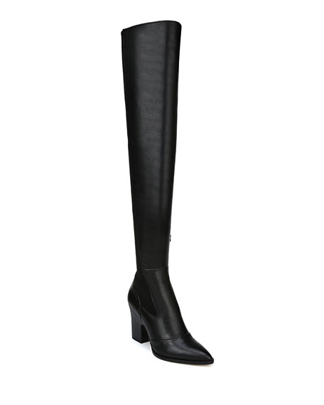Sam Edelman Natasha Stretch Leather Over-The-Knee Boots