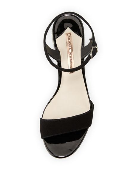 Sophia Webster Amber Suede Mid-Heel Sandals