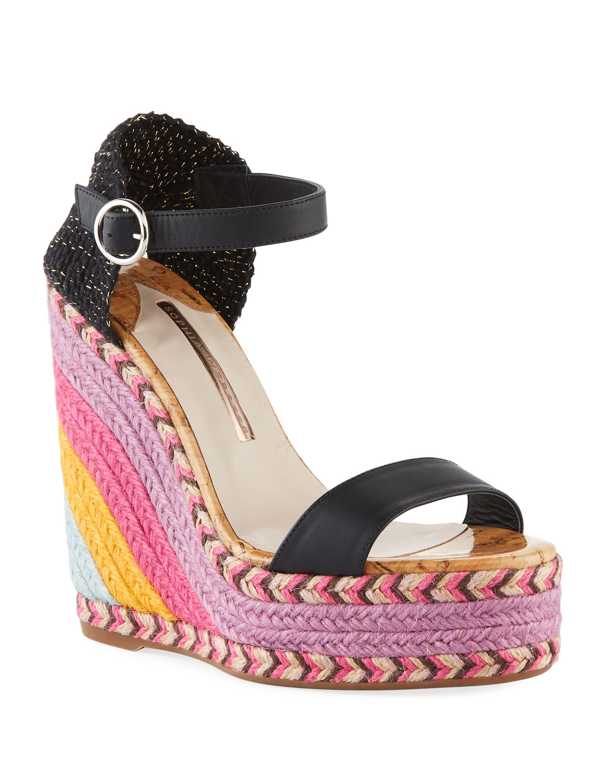 f608eed84 Sophia Webster Lucita Colorblock Wedge Espadrille