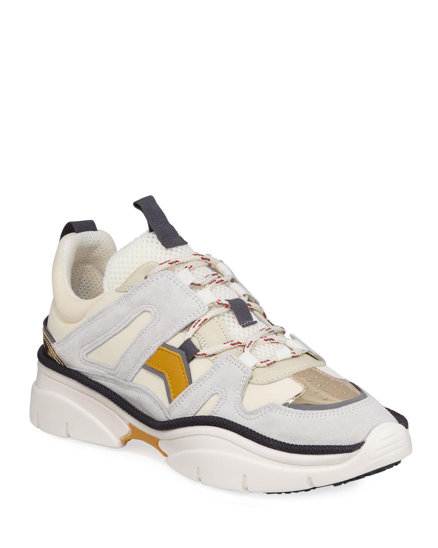 cb51d69bb21 Isabel Marant Kindsay Thick Platform Hiker Sneakers