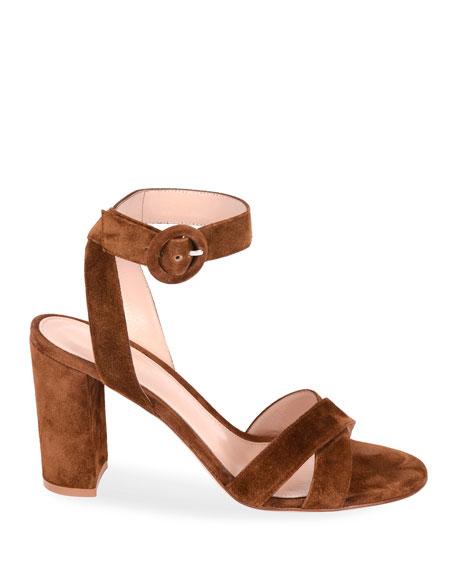 Gianvito Rossi Strappy Suede Platform Sandals