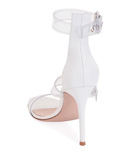 Gianvito Rossi Plexi Three-Buckle Sandals
