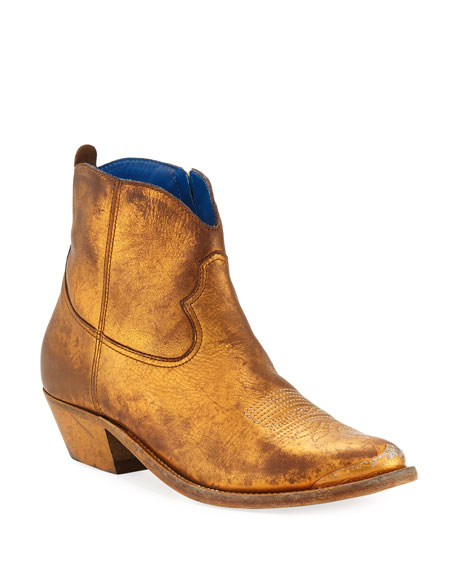Golden Goose Young Metallic Western Boots