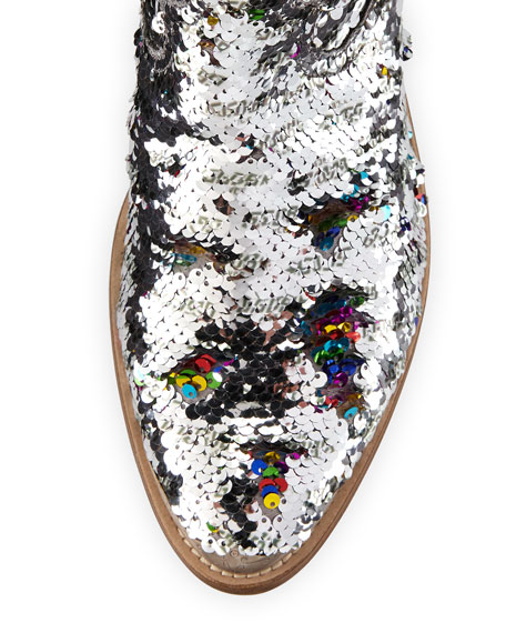 Golden Goose Young Sequin Western Boots