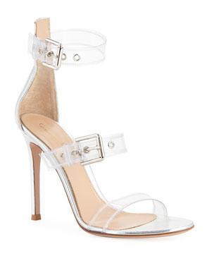 70f54a36754 Gianvito Rossi Metallic Plexi High Sandals
