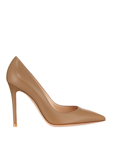 Image 2 of 3: Gianvito Rossi Gianvito 105mm Leather Point-Toe Pumps
