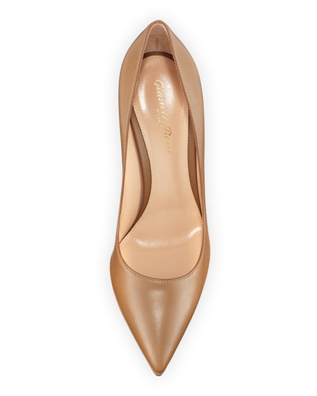 Image 3 of 3: Gianvito Rossi Gianvito 105mm Leather Point-Toe Pumps