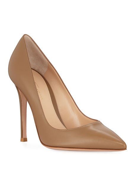Image 1 of 3: Gianvito Rossi Gianvito 105mm Leather Point-Toe Pumps