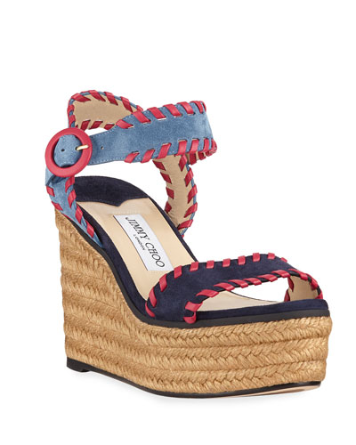 632dceec1a4 Jimmy Choo Dara Star-Perforated Espadrille Sneaker from Neiman ...