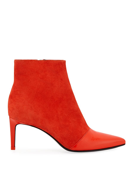Rag & Bone Beha Suede and Patent Leather Ankle Booties