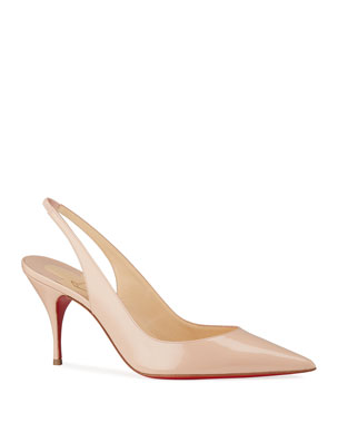 Christian Louboutin Clare Slingback Red Sole Pumps 23ac303fc0c7
