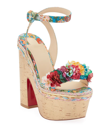 Christian Louboutin Arielle Sevillana Red Sole Sandals