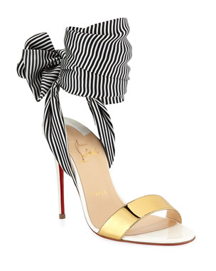 fd9cd376a72 Christian Louboutin Sandale Du Desert Red Sole Sandals