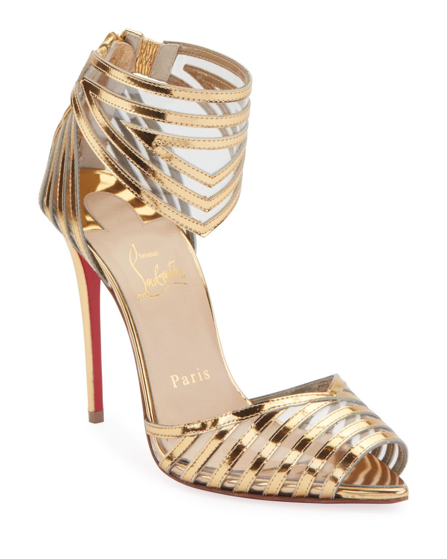 info for 8e870 94bb6 Maratena 100 Metallic/PVC Red Sole Sandals