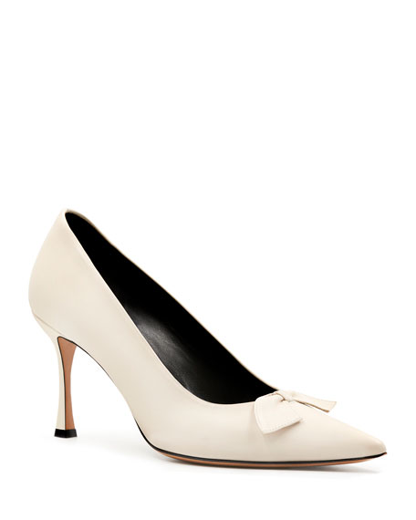THE ROW Champagne Bow Pumps