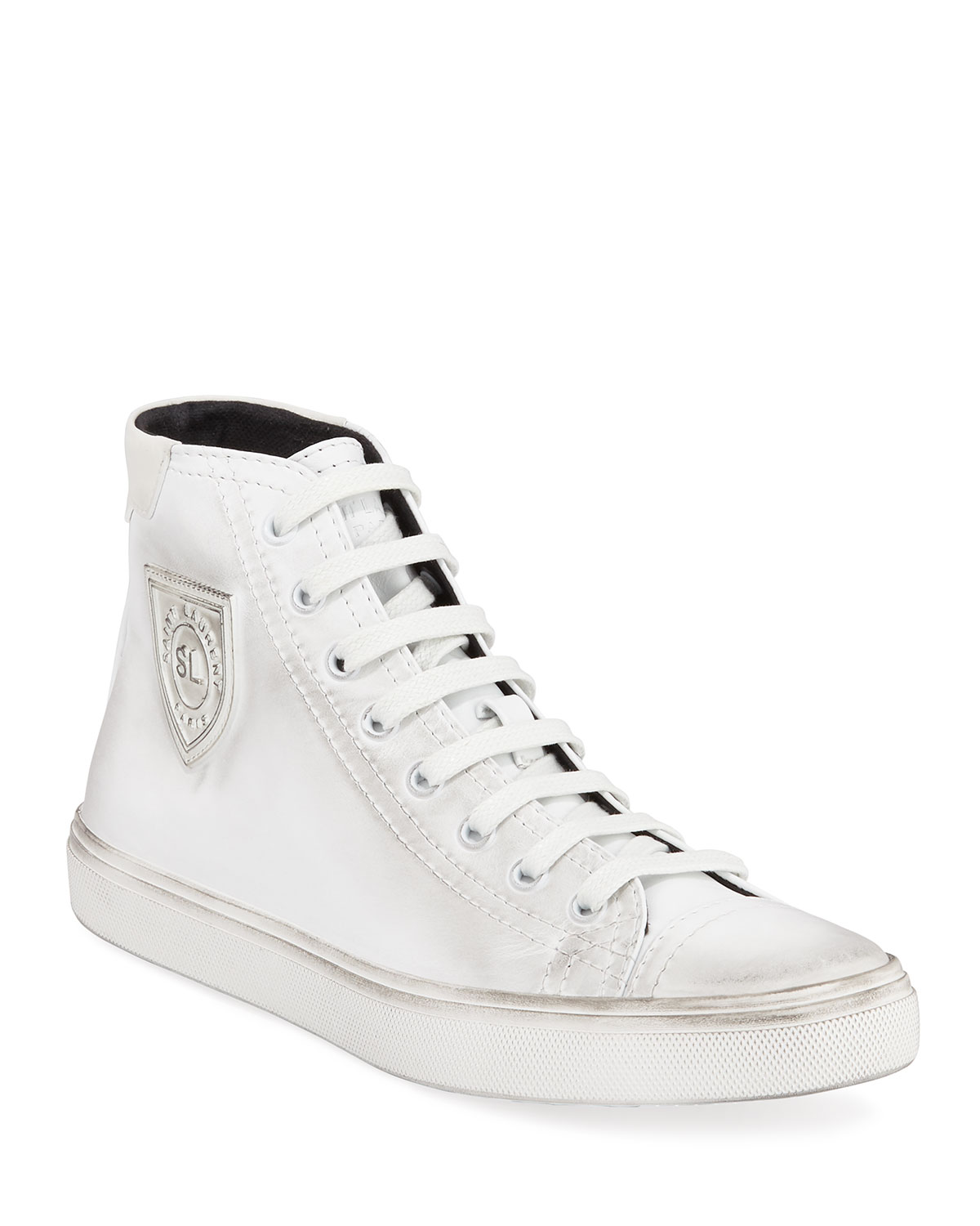 Bedford Leather Lace Up Sneakers by Saint Laurent