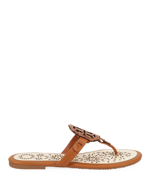 af55ea964 Tory Burch Miller Scallop Flat Slide Sandals | Neiman Marcus