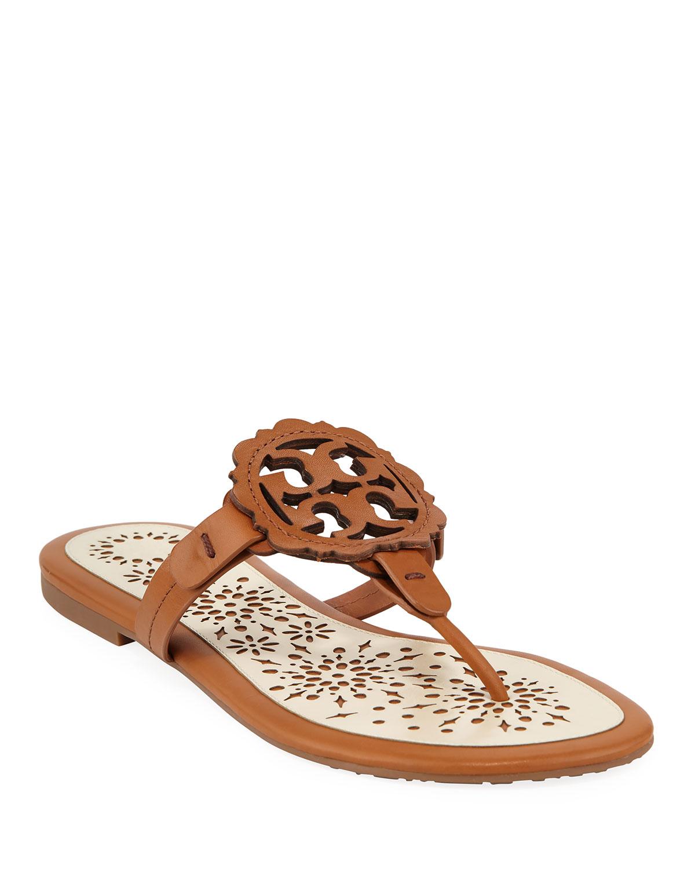3fe29d74c5e8 Tory Burch Miller Scallop Flat Slide Sandals
