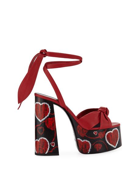 Paige Platform Leather Sandals