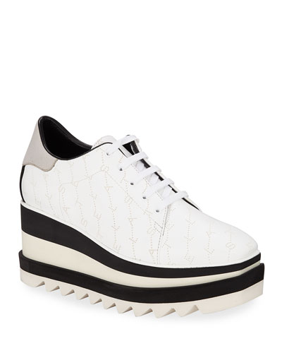 Sneakelyse Lace-Up Platform Sneakers