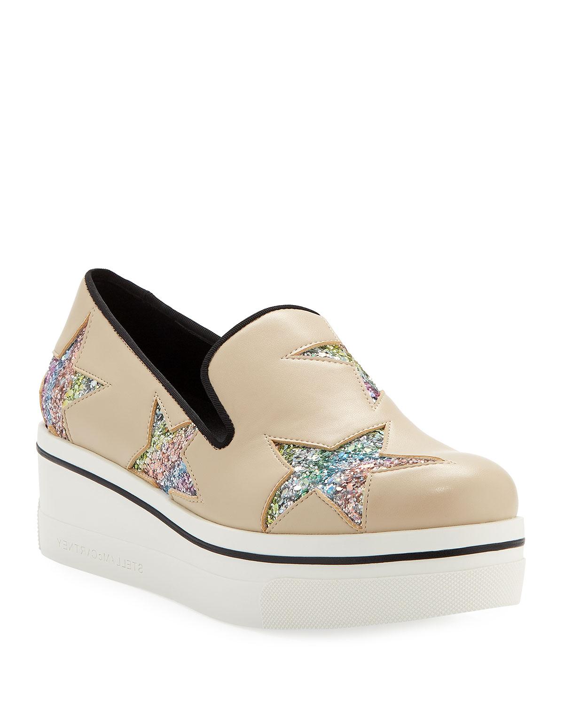 f344f32e14cd Stella McCartney Binx Stars Platform Loafers | Neiman Marcus