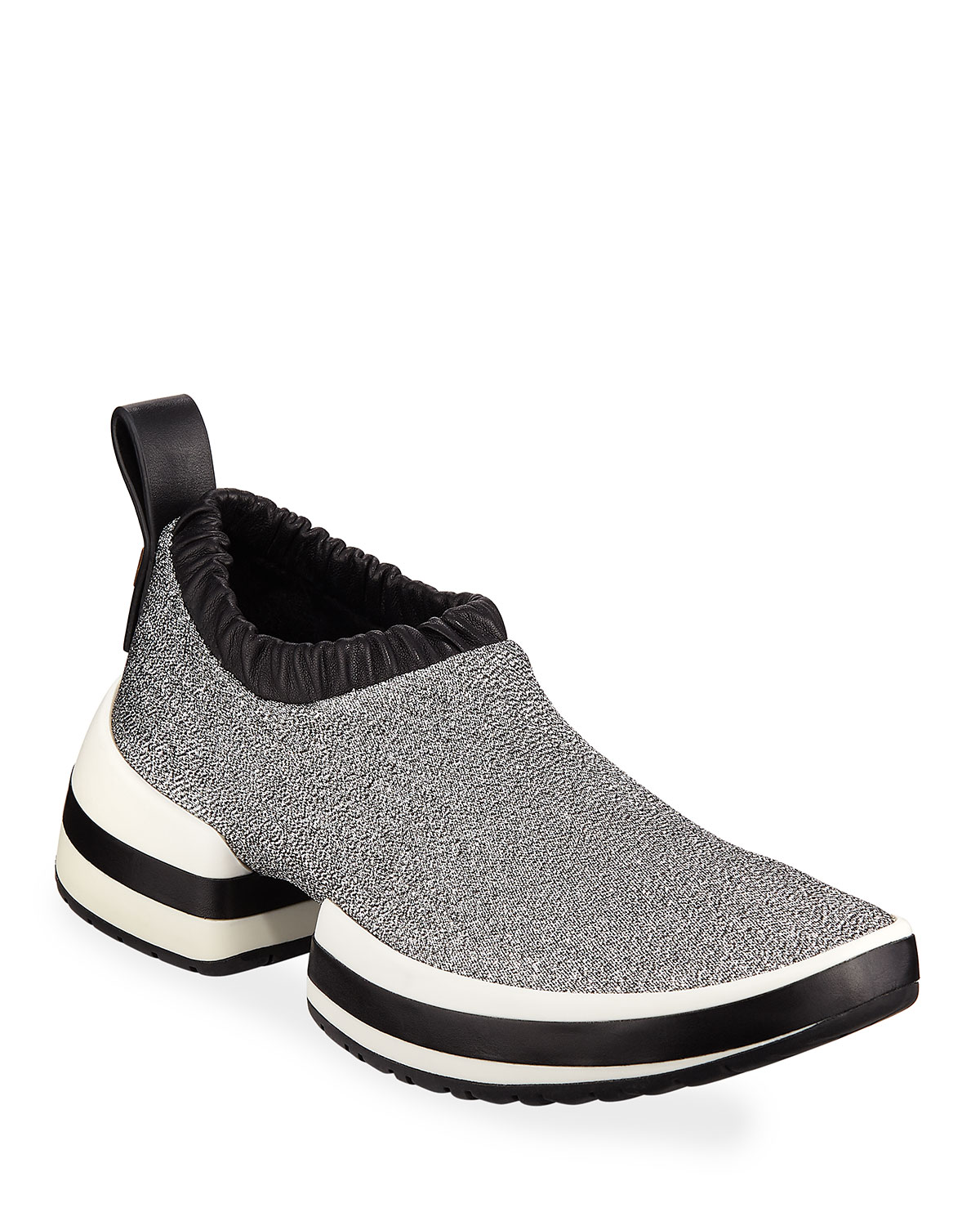 bef4664b6c Stuart Weitzman SW612 Metallic Fabric Platform Slip-On Sneakers ...